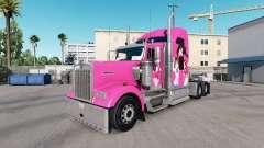 La piel Nico en el camión Kenworth W900