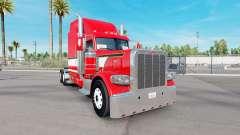 Dragón rojo de la piel para el camión Peterbilt