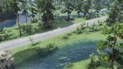 Pequeño río para Spin Tires