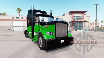 La piel Negra Y Verde para el camión Peterbilt 389 para American Truck Simulator