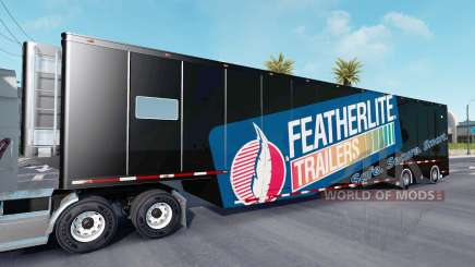 Featherlite semitrailer v1.4 para American Truck Simulator