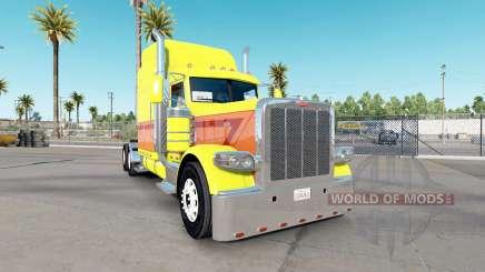 Piel de color Amarillo a punto de Estallar en el camión Peterbilt 389 para American Truck Simulator