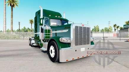 Piel verde oscuro para el camión Peterbilt 389 para American Truck Simulator