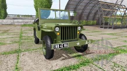 Jeep Willys MB 1942 v1.1 para Farming Simulator 2017