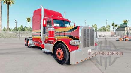 La piel del Bebé Rojo en el camión Peterbilt 389 para American Truck Simulator