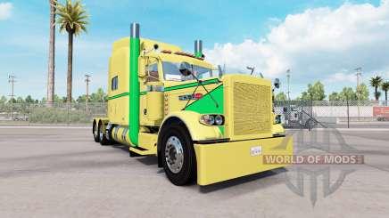 Piel de color Amarillo a Verde para el camión Peterbilt 389 para American Truck Simulator