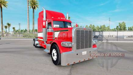Dragón rojo de la piel para el camión Peterbilt 389 para American Truck Simulator