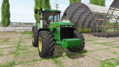 John Deere 8400 v3.3.6.9 para Farming Simulator 2017