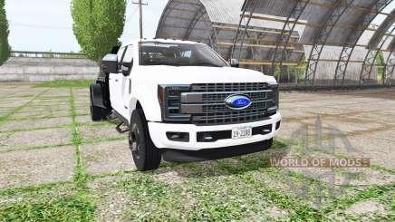 Ford F-450 Super Duty flatbed para Farming Simulator 2017