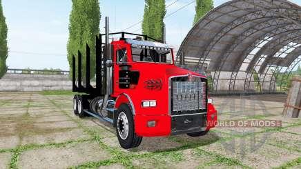 Kenworth T800 log truck para Farming Simulator 2017