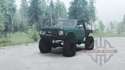 Chevrolet K10 1972 green para MudRunner