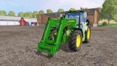 John Deere 6110 RC front loader