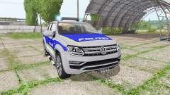 Volkswagen Amarok Double Cab polizei para Farming Simulator 2017