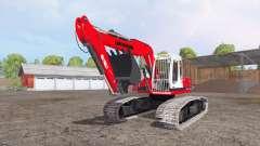 Liebherr A 900 C Litronic red para Farming Simulator 2015