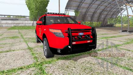 Ford Explorer Limited (U502) fire department para Farming Simulator 2017