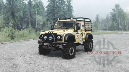 Land Rover Defender 90 off-road para MudRunner