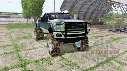 Ford F-350 Super Duty Crew Cab mud truck para Farming Simulator 2017