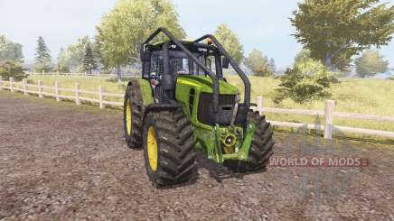 John Deere 7530 Premium forest para Farming Simulator 2013
