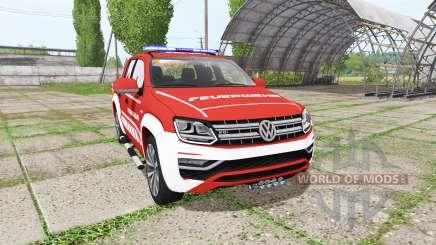 Volkswagen Amarok Double Cab feuerwehr para Farming Simulator 2017