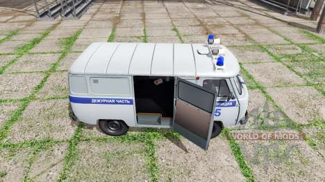 UAZ 3909 Policía para Farming Simulator 2017