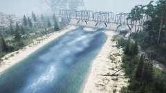 Mezhyhirya Abajo por el río para MudRunner