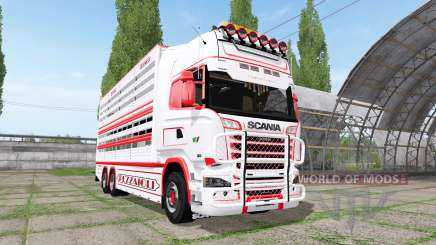 Scania R730 cattle transport v2.2 para Farming Simulator 2017