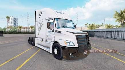 La piel de Swift en el tractor Freightliner Cascadia para American Truck Simulator