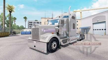 La piel Gris Púrpura Kenworth W900 tractor para American Truck Simulator