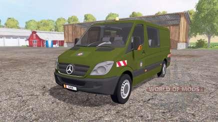 Mercedes-Benz Sprinter 211 CDI belgian army para Farming Simulator 2015