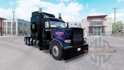 La piel de color Púrpura-la llama rosa para el camión Peterbilt 389 para American Truck Simulator