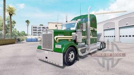 La piel Verde de Oro en el camión Kenworth W900 para American Truck Simulator