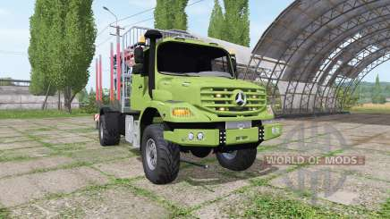 Mercedes-Benz Zetros 1833 A timber v2.0 para Farming Simulator 2017