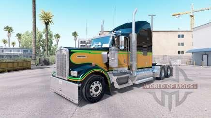 La piel JA.Día de emancipación en el camión Kenworth W900 para American Truck Simulator