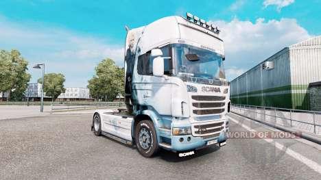 Final Fantasy de la piel para el camión Scania R-series para Euro Truck Simulator 2