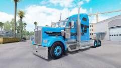 La piel Azul Negro para tractor camión Kenworth