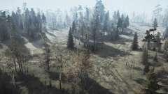 Tierras forestales de la v1.1 para MudRunner