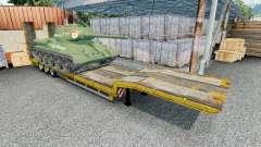 Semitrailer with cargo T-34-85