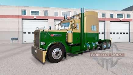 La piel Oscura de Oro Verde en el camión Peterbilt 389 para American Truck Simulator