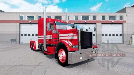 Piel Roja en Rollin Transporte Peterbilt 379 tractor para American Truck Simulator
