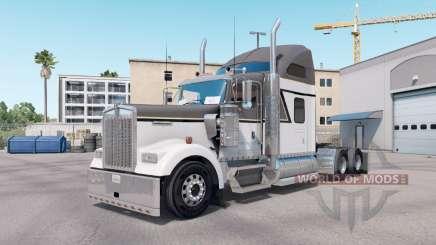La piel Maestro Gris en el camión Kenworth W900 para American Truck Simulator