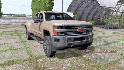 Chevrolet Silverado 3500 HD Crew Cab 2016 para Farming Simulator 2017
