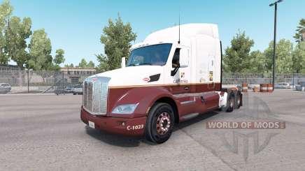Caffenio de la piel para el camión Peterbilt 579 para American Truck Simulator