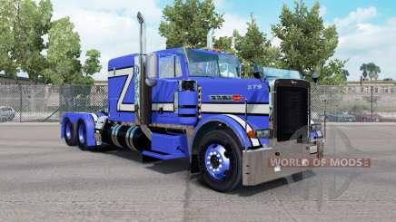 La piel Azul Rollin en el camión Peterbilt 379 para American Truck Simulator