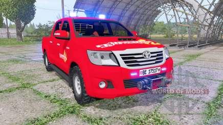 Toyota Hilux Double Cab 2011 feuerwehr v1.1 para Farming Simulator 2017