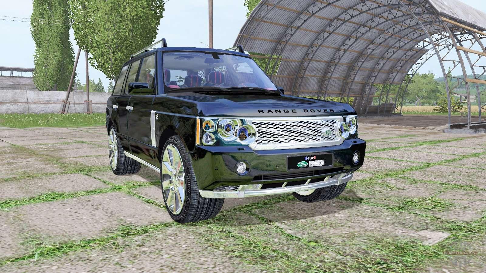 land rover range rover supercharged l322 2009 para farming simulator 2017. Black Bedroom Furniture Sets. Home Design Ideas