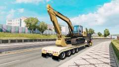 Trailer with construction equipment para Euro Truck Simulator 2