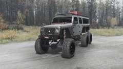 Jeep Wrangler Unlimited 6x6 (JK) crawler para MudRunner