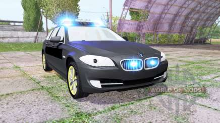 BMW 530d Touring (F11) undercover police para Farming Simulator 2017
