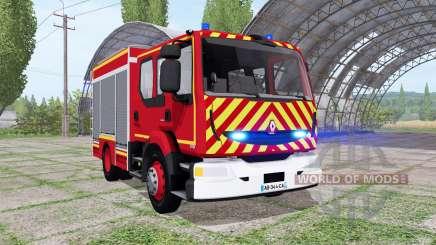 Renault Midlum Crew Cab Firetruck 2006 para Farming Simulator 2017