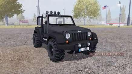 Jeep Wrangler (JK) v2.1 para Farming Simulator 2013